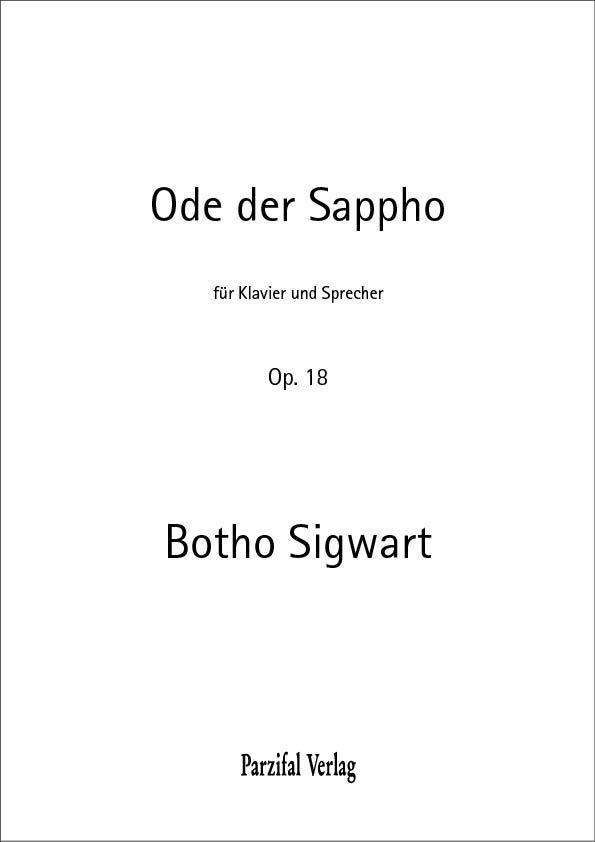 Ode der Sappho op. 18 Botho Sigwart