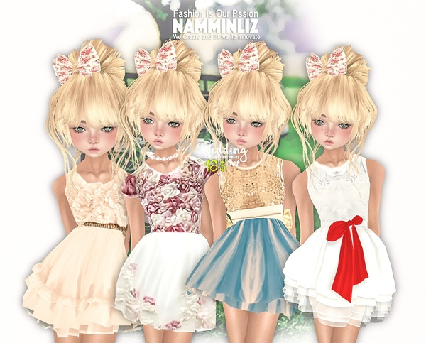 Wedding Little princesses Full set 4 Dresses