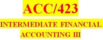 ACC 423 Week 2 Textbook Problems