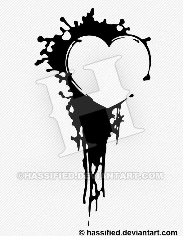 Heart Ink Splat