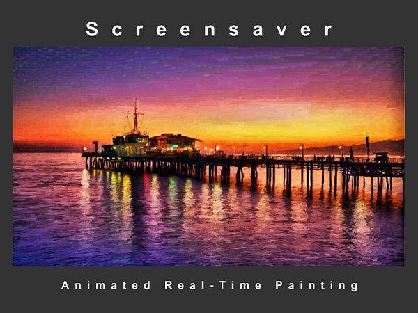 """"""" Night Pier """" Screensaver ( Animated Artwork )"""