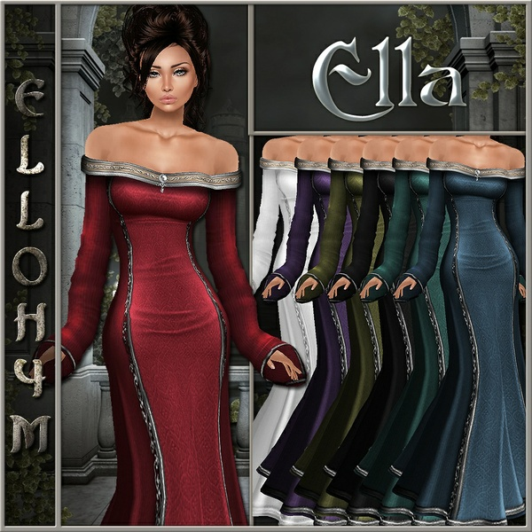 Ellohym - Ella Gown PSD Files