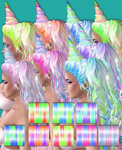 PonyCorn Hair textures -