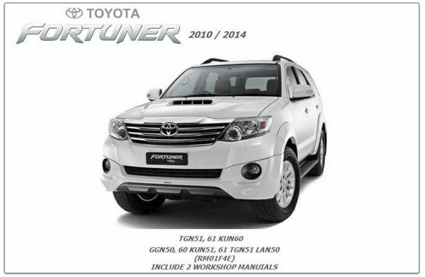 Toyota Fortuner 2010-2014 GSIC Workshop Manual