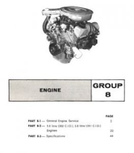Ford 5.0 litre (302 C.l D ). 5.8 litre (351 C.I.D) V8 Engines Repair Manual