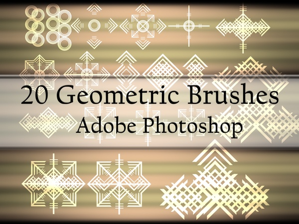 20 Geometric Brushes for Photoshop
