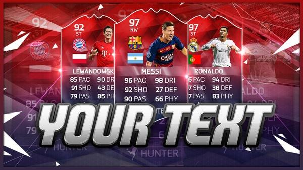 FIFA 16 THUMBNAIL TEMPLATE