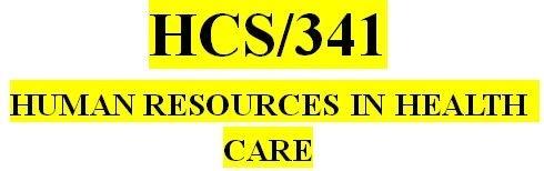 HCS 341 Week 3 Job Description Matrix