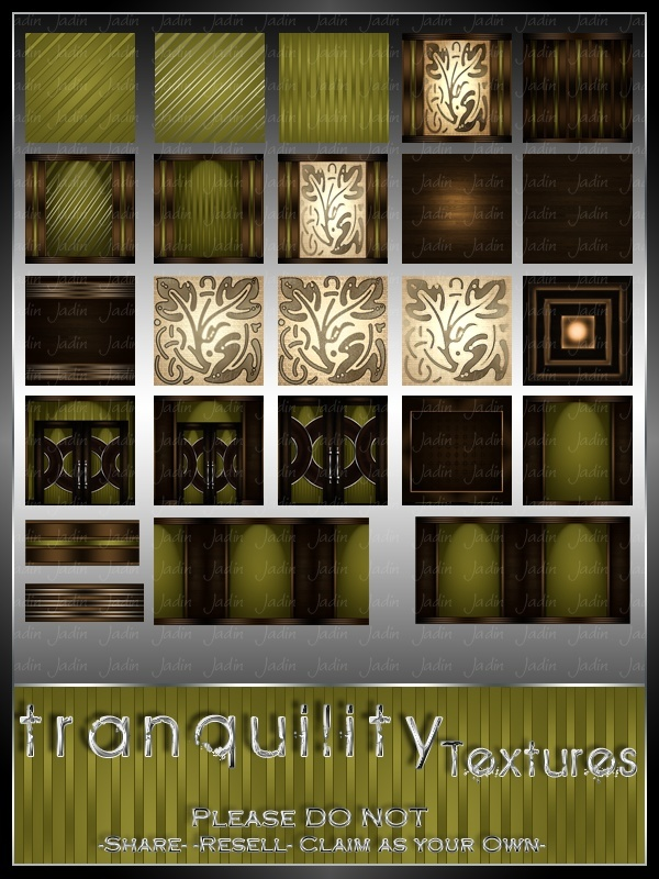 Tranquility Texture Pack --- $3.00