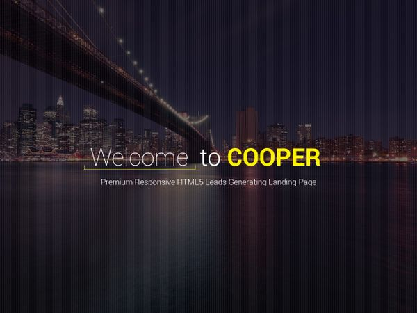 Cooper - Leads Generating Landing Page