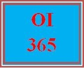 OI 365 Week 5 Information Technology Platform Presentation
