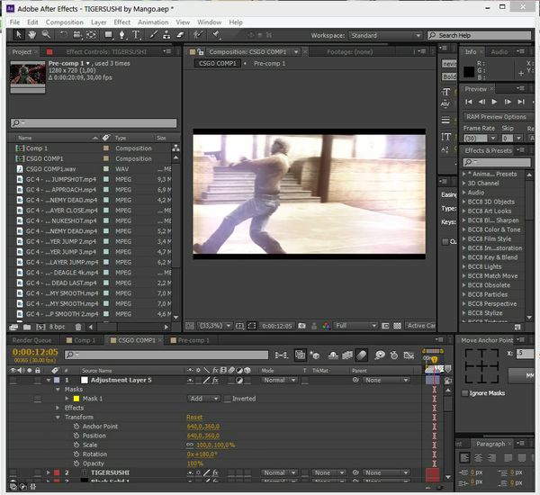 TIGERSUSHI Project file - AE CC and AE CS6