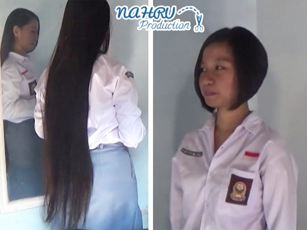 "BOBCUT#001 ""Student Girl Gets A Drastic Hair Makeover"""