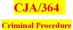 CJA 364 Week 5 Team Paper - Pretrial Process Paper