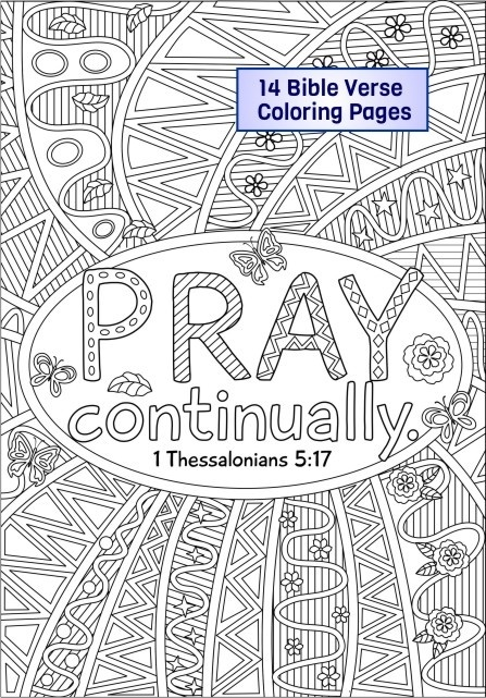 14 Bible Verse Coloring Pages plus 3 Coloring Journals