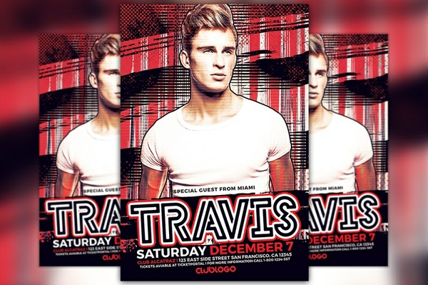 DJ Travis Flyer Template
