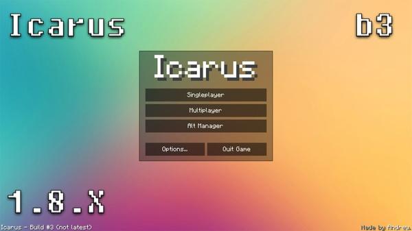 скачать чит икарус для майнкрафт на 1.8