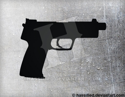 HK USP Tactical - printable, vector, svg, art