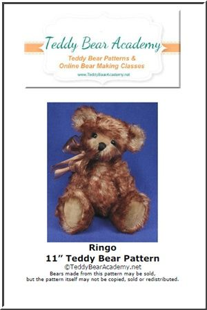 "Ringo - 11"" Teddy Bear Pattern w/ resell rights of finished bear"