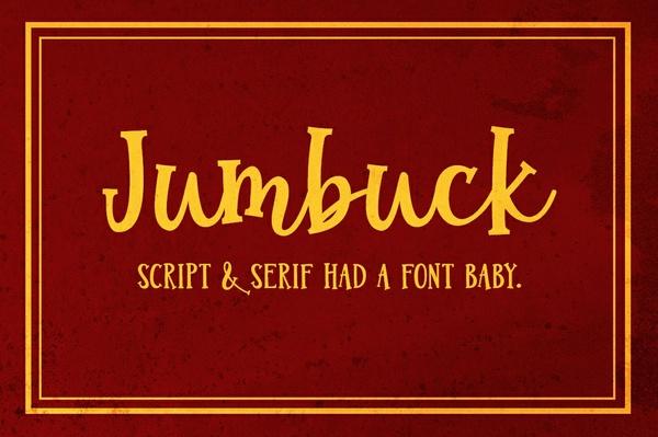Jumbuck: a script serif font!