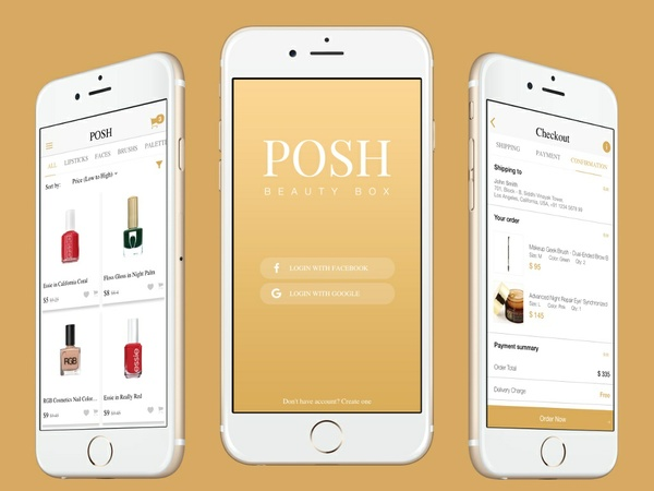 ionFullApp Ecommerce App 9Beauty POSH