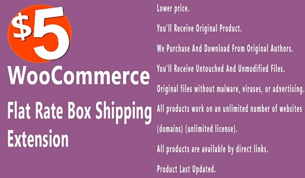 WooCommerce Flat Rate Box Shipping 2.0.3 Extension