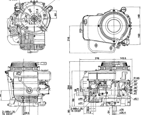 Kawasaki FC150V OHV 4-Stroke Air-Cooled Gasoline Engine Workshop Manual Download