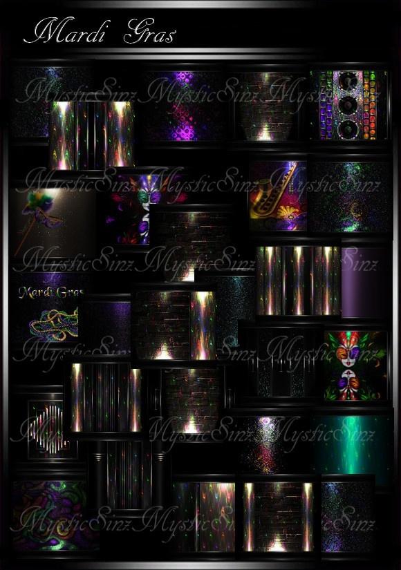 IMVU Mardi Gras Room Collection