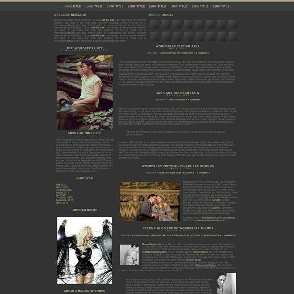 Dark Minimum Wordpress