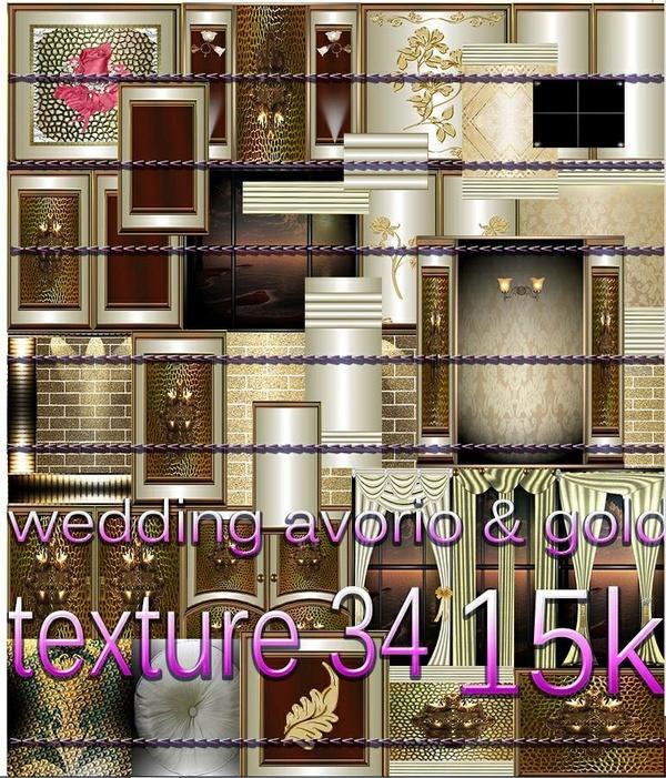 WEDDINGS AVORIO GOLD 34 TEXTURES 7.50 USD