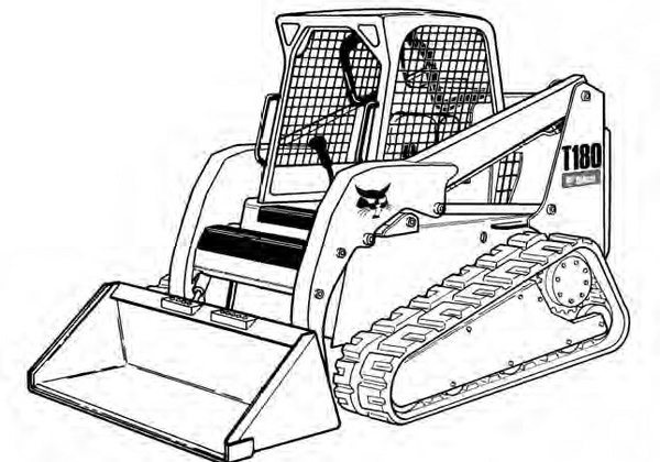 Bobcat T180 Compact Track Loader Service Repair Manual Download(S/N 531411001 - 531459999...)