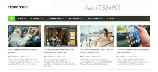 Responsive News & Magazine Blogger Templates