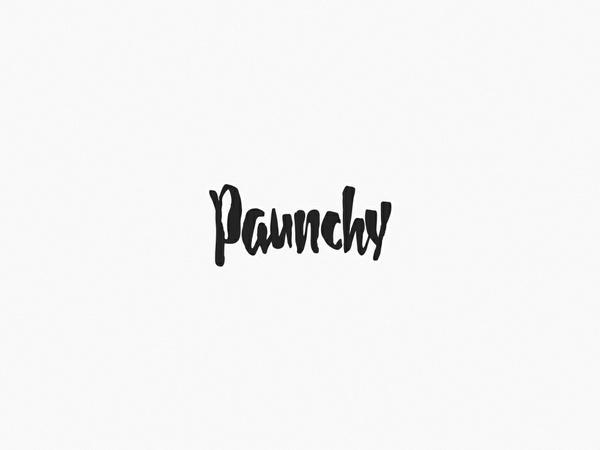 Paunchy - Font
