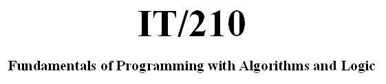 IT 210 Week 6 CheckPoint - Algorithm Verification