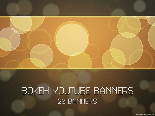 Plain Bokeh YouTube Banners
