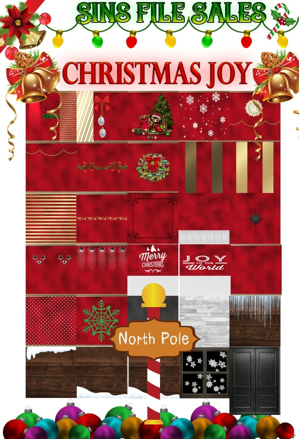 Christmas Joy Texture Pack *35 PNG
