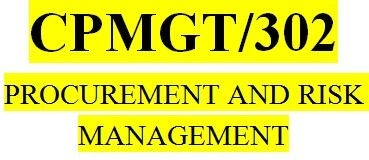 CPMGT 302 Week 1 Risk Management Small Group Discussion