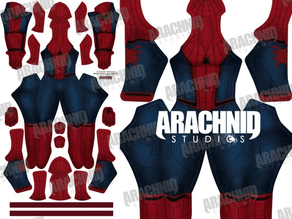 **OLD Version** Civil War Spider-Man Dye-sub Pattern