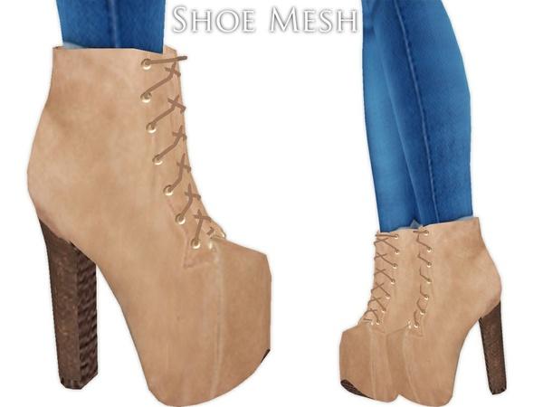 IMVU Mesh - Shoes - Fall Boots