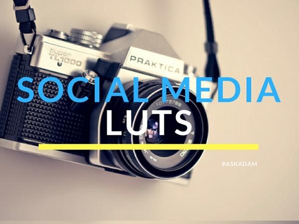 Top 20 Social Media Filters (LUTs for Adobe Light Room)