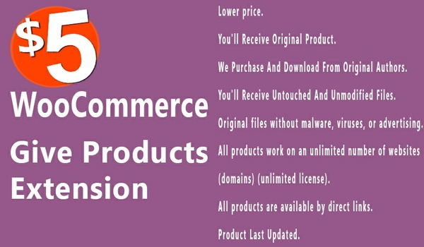 WooCommerce Give Products 1.1.0 Extension