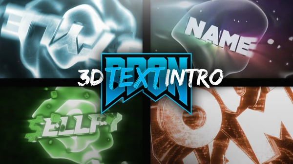 3D CUSTOM TEXT INTRO