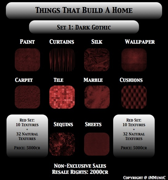 42 Dark Gothic Red Room Textures With Resell Rights