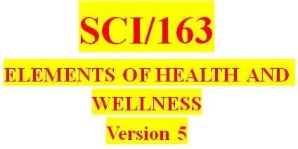 SCI 163 Week 1 Life Resource Center