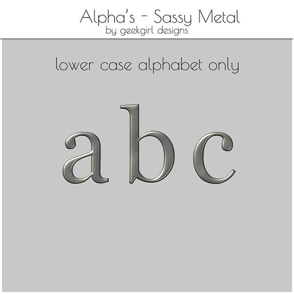 Sassy Metal Alpha Set