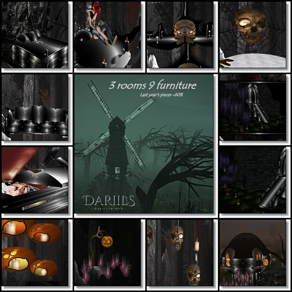 [D]Mesh Halloween_3 rooms 9 furniture Last year's pieces -60%