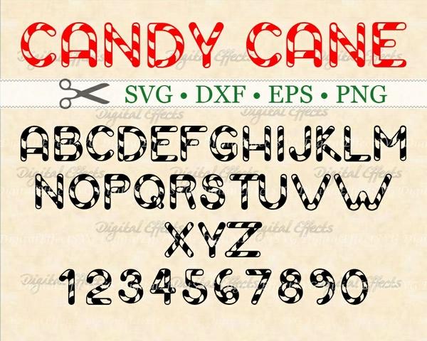 CANDY CANE FONT SVG