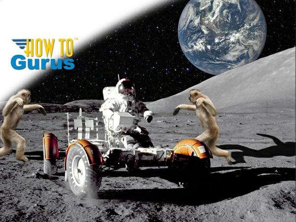 Moon Monkeys Attack Astronaut a Photoshop Elements 11 12 13 14 Tutorial