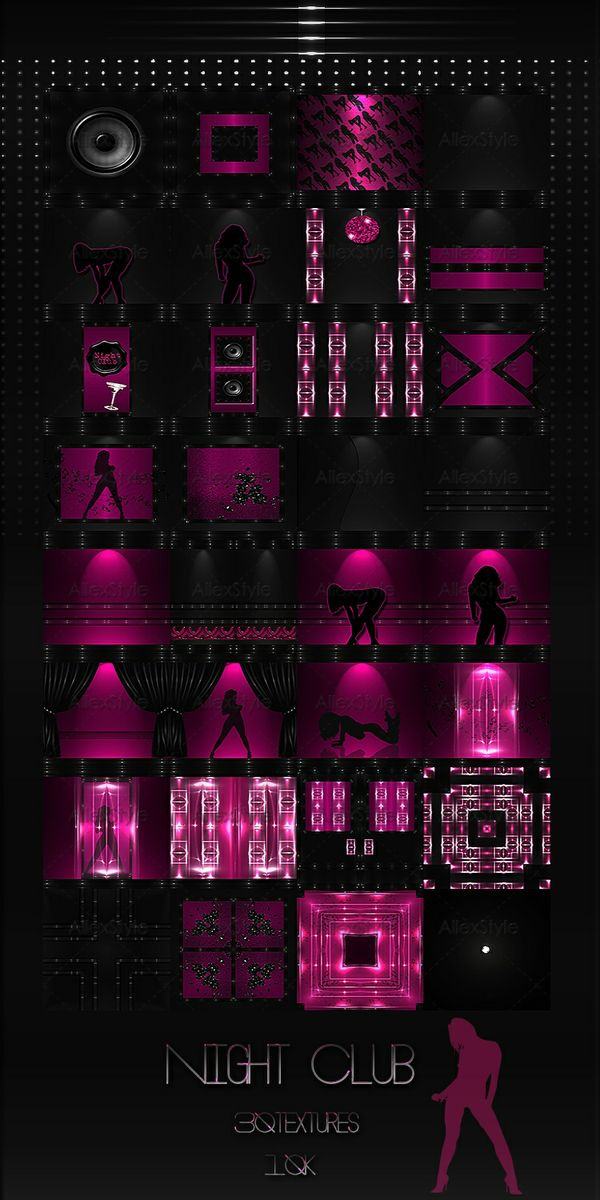 "IMVU TEXTURES FILE  "" Night Club """