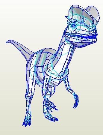 Dolophosaurus FULL SCALE Pepakura PDO file